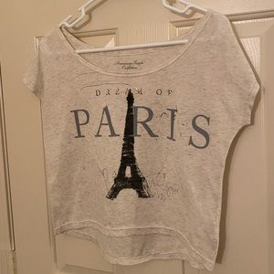AE Cropped Paris Tee